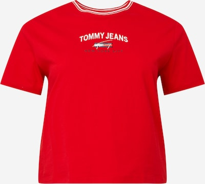 Tommy Jeans Curve Shirt in navy / rot / weiß, Produktansicht