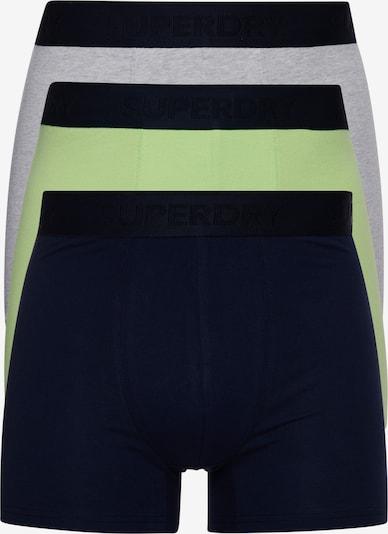 Superdry Boxershorts in de kleur Marine / Grijs gemêleerd / Limoen, Productweergave