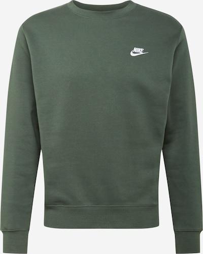 Nike Sportswear Sweatshirt in dunkelgrün / weiß, Produktansicht
