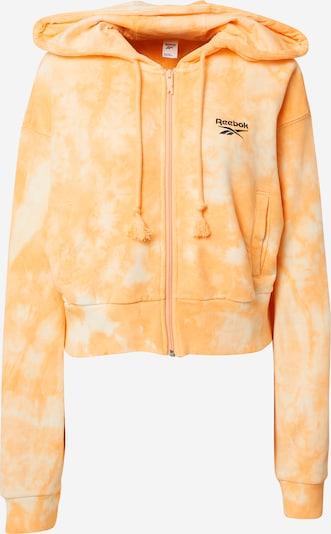 Reebok Classic Sweatjacke in creme / orange / schwarz, Produktansicht