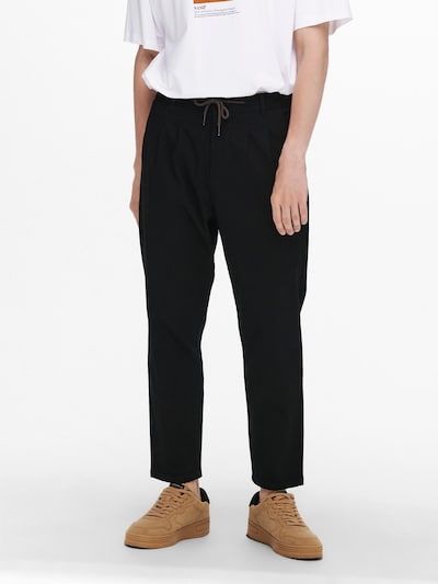 Only & Sons Pantalon chino 'ONSDEW' en noir, Vue avec modèle