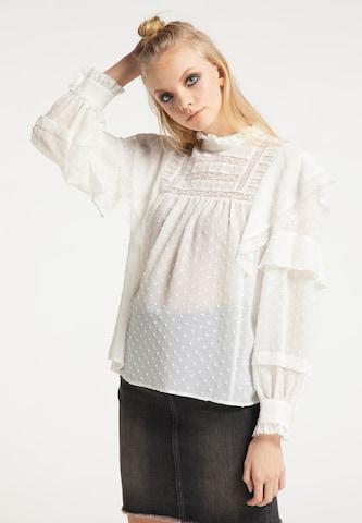 myMo ROCKS Bluse in Weiß