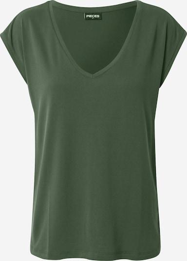 PIECES T-Shirt in dunkelgrün, Produktansicht