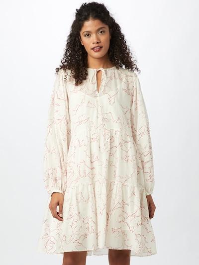 BOSS Casual Kleid 'Decento' in rostrot / weiß, Modelansicht