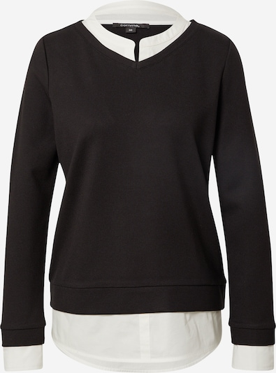 Bluză de molton COMMA pe negru / alb, Vizualizare produs