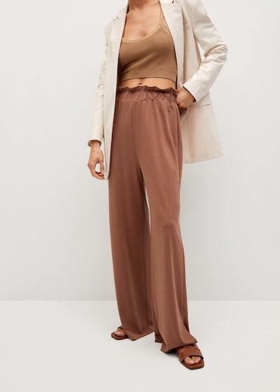MANGO Pantalon 'goli' en orange, Vue avec modèle