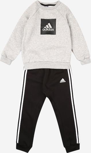 ADIDAS PERFORMANCE Jogginganzug in grau / schwarz / weiß, Produktansicht