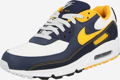 Nike Sportswear Ниски маратонки 'Air Max 90' в тъмносиньо / златистожълто / бяло, Преглед на продукта