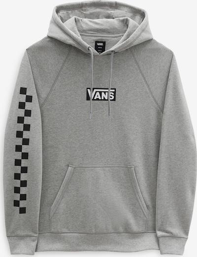 VANS Sweatshirt 'Versa Standard' i grå / svart / vit: Sedd framifrån