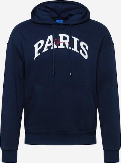 JACK & JONES Sportisks džemperis 'Jorhipe', krāsa - tumši zils / balts, Preces skats
