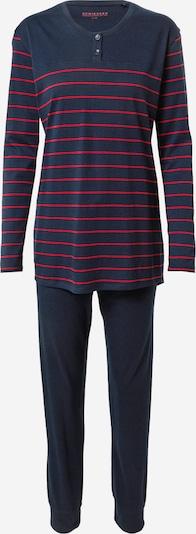 SCHIESSER Pyjama in nachtblau / blutrot, Produktansicht