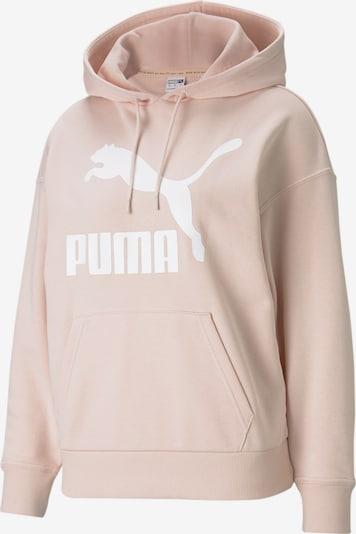 PUMA Sweat-shirt en poudre / blanc, Vue avec produit
