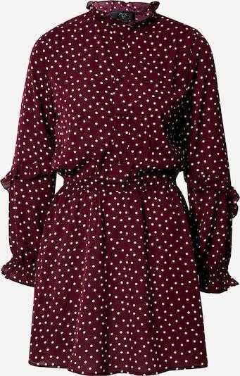 AX Paris Robe-chemise en lie de vin / blanc, Vue avec produit