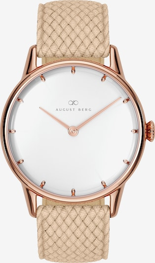 August Berg Analog Watch 'Serenity Simply Dot Sand Cream Perlon 32mm' in Sand / Rose gold, Item view