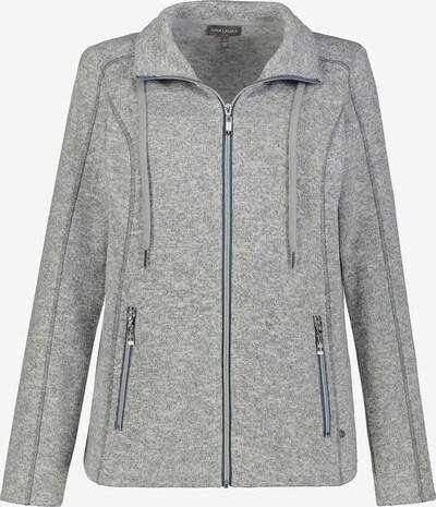 Gina Laura Strickfleece-Jacke in graumeliert, Produktansicht