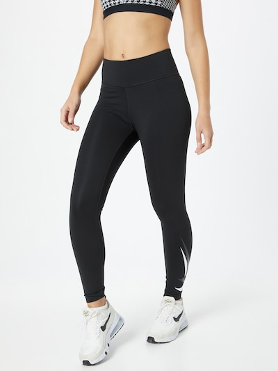 NIKE Sporthose in dunkelgrau / schwarz / weiß, Modelansicht