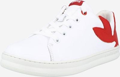 CAMPER Baskets 'Twins' en rouge / blanc, Vue avec produit