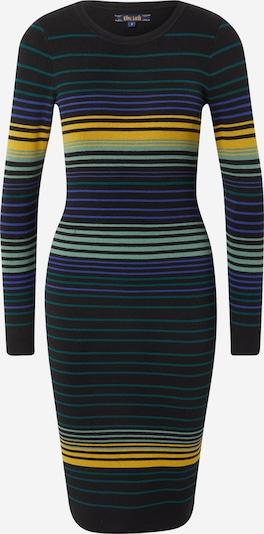 King Louie Kleid in goldgelb / petrol / pastellgrün / neonlila / schwarz, Produktansicht