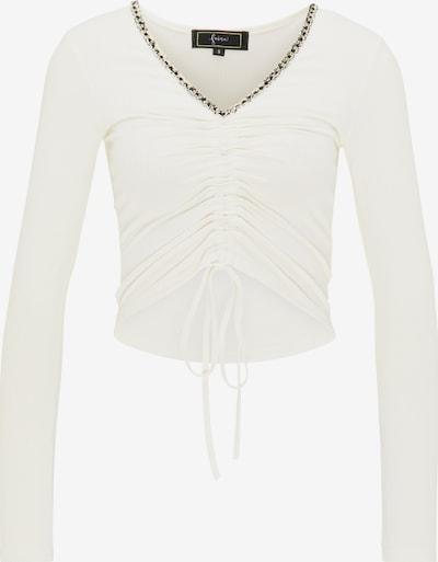 Tricou faina pe negru / alb natural, Vizualizare produs