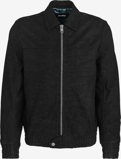 tigha Lederjacke  ' Doan ' in schwarz, Produktansicht