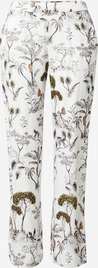 ETAM Pantalon de pyjama 'JORJA' en écru / brun foncé / vert, Vue avec produit
