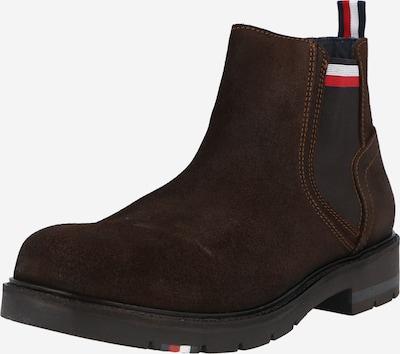 TOMMY HILFIGER Chelsea čižmy - námornícka modrá / tmavohnedá / červená / biela, Produkt