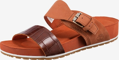 TIMBERLAND Pantolette in dunkelbraun / orange, Produktansicht