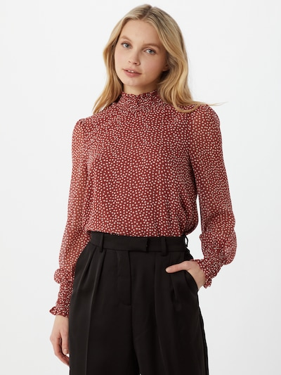 VERO MODA Bluse 'VMSMILLA' in pastellrot / weiß, Modelansicht