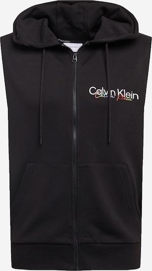 Calvin Klein Sweatjacke 'PRIDE' in royalblau / gelb / hellrot / schwarz / weiß, Produktansicht