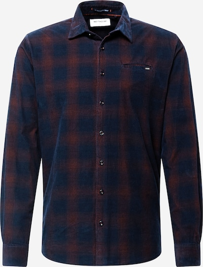No Excess Hemd in dunkelblau / dunkelrot, Produktansicht