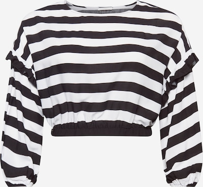 Guido Maria Kretschmer Curvy Collection Shirt 'Ellen' in de kleur Zwart / Wit, Productweergave