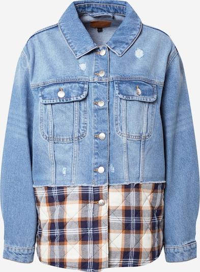 Demisezoninė striukė 'BOSTON' iš ONLY, spalva – mėlyna / tamsiai (džinso) mėlyna / ruda / balta, Prekių apžvalga