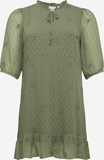 Junarose Robe en olive, Vue avec produit