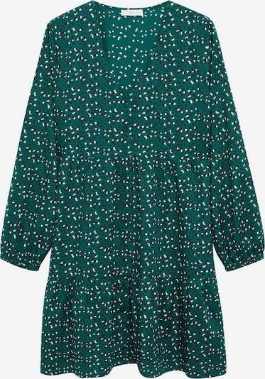 MANGO KIDS Kleid in dunkelbraun / smaragd / weiß, Produktansicht