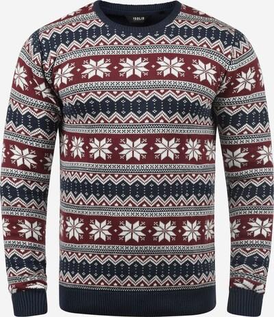 !Solid Pullover 'Winno' in blau / rot / weiß, Produktansicht