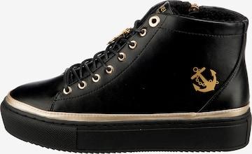 Inselhauptstadt High-Top Sneakers in Black