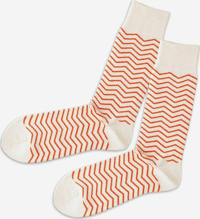 DillySocks Socken in orange / weiß, Produktansicht