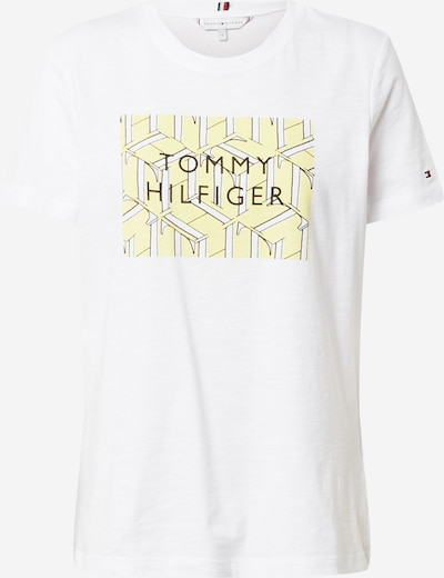 Tricou TOMMY HILFIGER pe galben / negru / alb, Vizualizare produs
