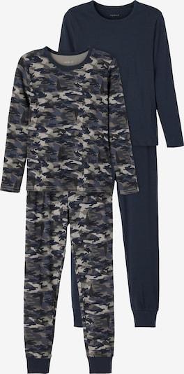 NAME IT Schlafanzug in blau / saphir / hellgrau / schwarz, Produktansicht