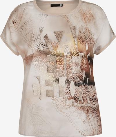 Thomas Rabe Shirt mit Glitzersteinen und Paisley-Muster in hellbeige, Produktansicht