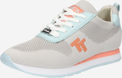 TOM TAILOR Sneaker in hellblau / hellgrau / orange, Produktansicht