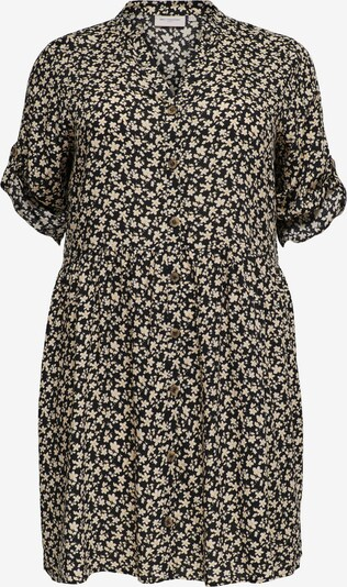 ONLY Carmakoma Robe-chemise 'Marrakesh' en beige / jaune / noir, Vue avec produit