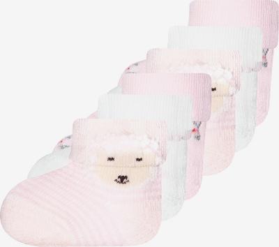 EWERS Socken in apricot / rosa / schwarz / weiß, Produktansicht