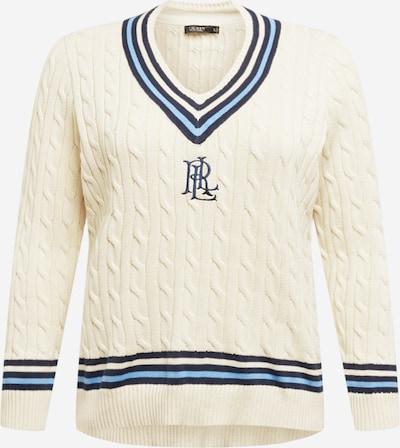 Pullover Lauren Ralph Lauren di colore crema / navy / blu cielo, Visualizzazione prodotti