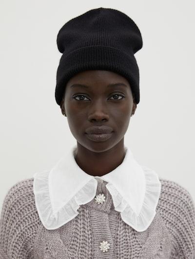 EDITED Mütze 'Enya' in schwarz: Frontalansicht