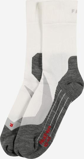 FALKE Chaussettes de sport en gris chiné / rouge / blanc, Vue avec produit