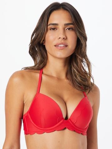 Hunkemöller Bikini top 'Scallop' in Red