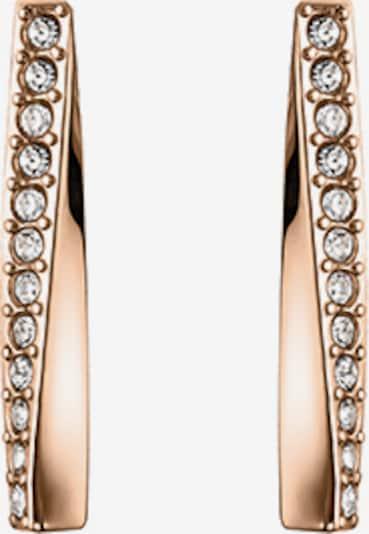 BOSS Boucles d'oreilles 'SIGNATURE' en or rose / blanc, Vue avec produit