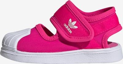 Atviri batai 'SANDA' iš ADIDAS ORIGINALS , spalva - rožinė / balta, Prekių apžvalga