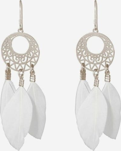 Gemshine Ohrringe in silber / weiß, Produktansicht